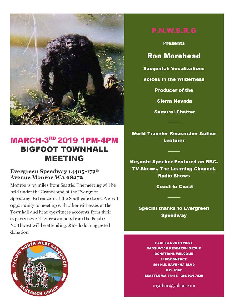 Bigfoot Town Hall with Pacific North West Sasquatch Research Group